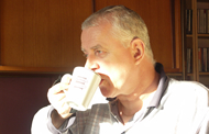 Introduction to integrated budgets: man drinking tea