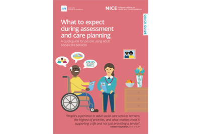 Cover of resource: What to expect during assessment and care planning