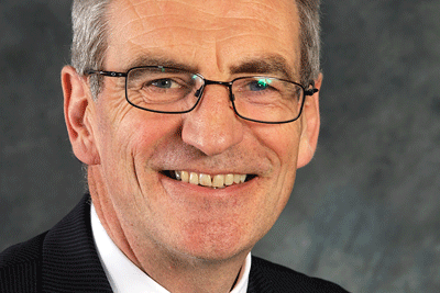 Head-shot of the author, David Pearson CBE, Social Care lead in the NHS for COVID-19. Chair of Nottingham and Nottinghamshire Integrated Care System
