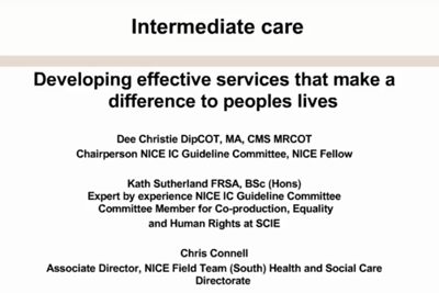 Webinar: Developing effective services that make a difference