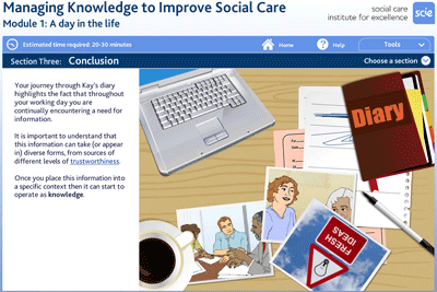 Managing knowledge to improve social care