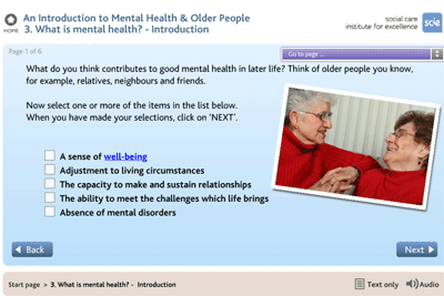Mental health of older people
