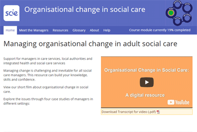 Organisational change in Social Care