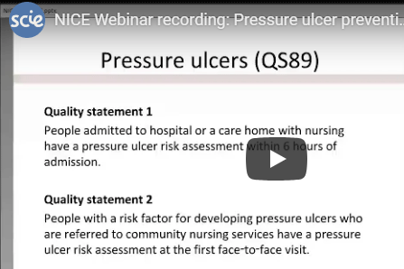 Pressure ulcer prevention and management in care homes webinar