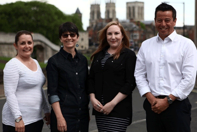 Head-shot of the author, the York team and the Local Area Coordination Network (CEO Samantha Clark)