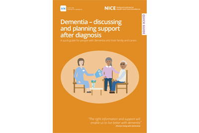 Cover of resource: Dementia � discussing and planning support after diagnosis