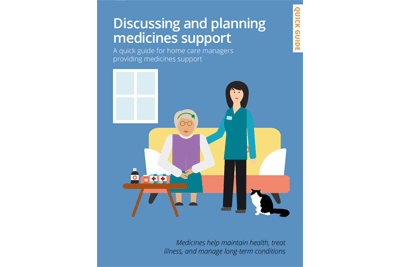 Cover of resource: Discussing and planning medicines support