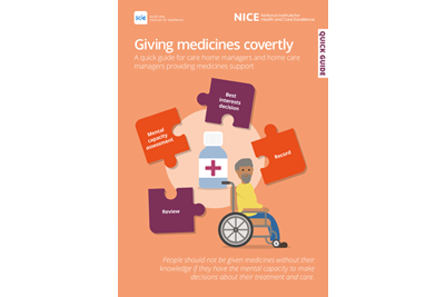 Giving medicines covertly quick guide