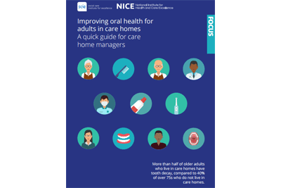 Cover of resource: Improving oral health for adults in care homes