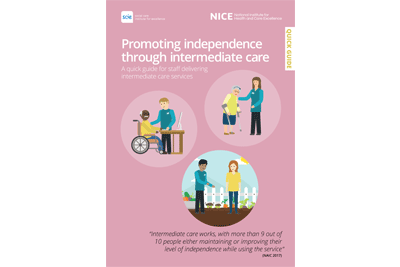 Cover of resource: Promoting independence through intermediate care