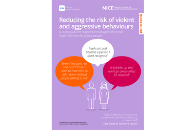 Reducing the risk of violent and aggressive behaviours
