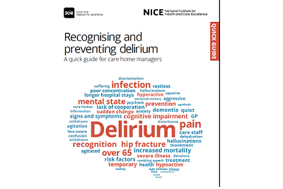 Cover of resource: Recognising and preventing delirium