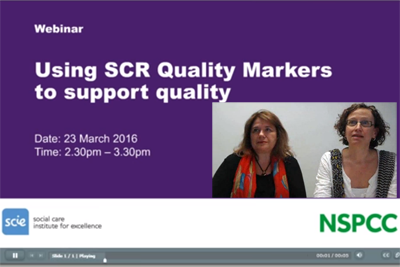Using Quality Markers Webinar