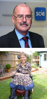 Photographs of Allan Bowman and Baroness Jane Campbell