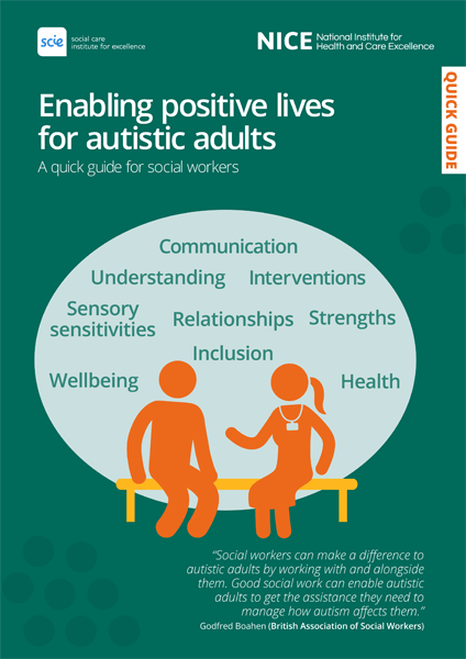 Cover of publication: Enabling positive lives for autistic adults