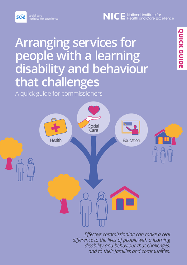 Publication cover: Arranging services for people with a learning disability and behaviour that challenges