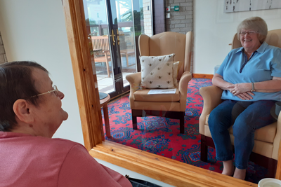 Socially distant visits in Barford court