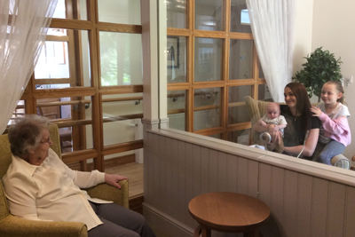 Family visits in Barford court