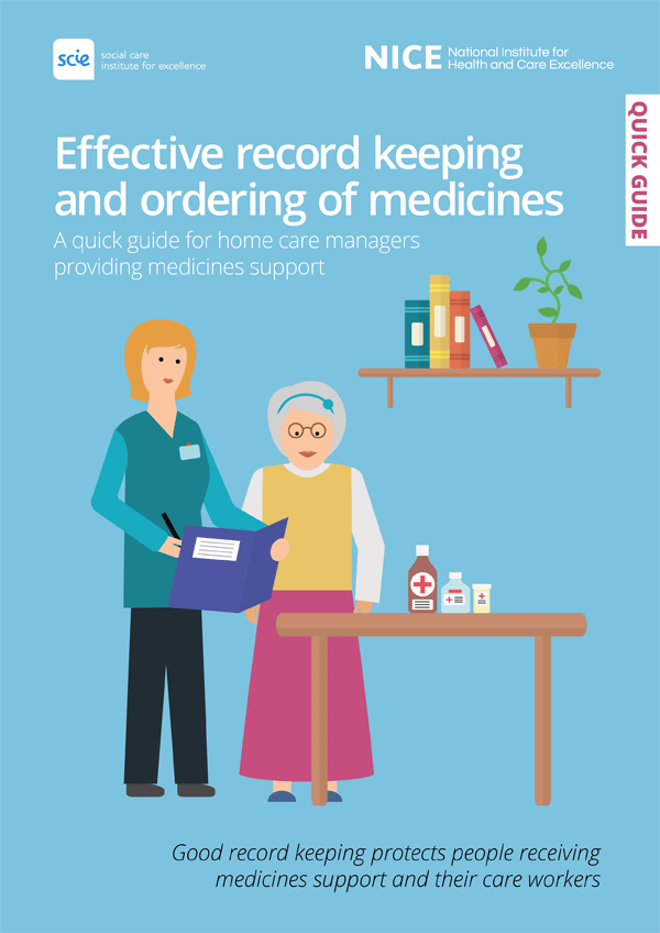 Publication cover: Effective record keeping and ordering of medicines