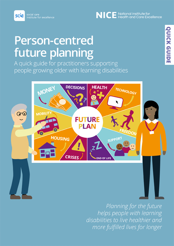 Publication cover: Person-centred future planning: A quick guide for practitioners supporting people growing older with learning disabilities