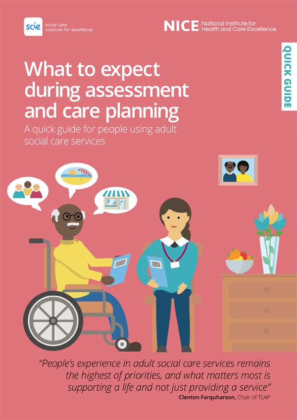 Publication cover: What to expect during assessment and care planning