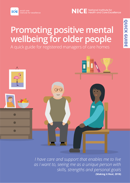 Cover of publication: Promoting positive mental wellbeing for older people